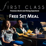 Free Set Meal in First Class' title='Free Set Meal in First Class