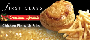 FIRST CLASS Chicken Pie with Fries